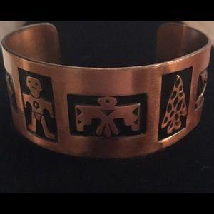 Jewelry - Solid Copper Native American Vintage Cuff Bracelet